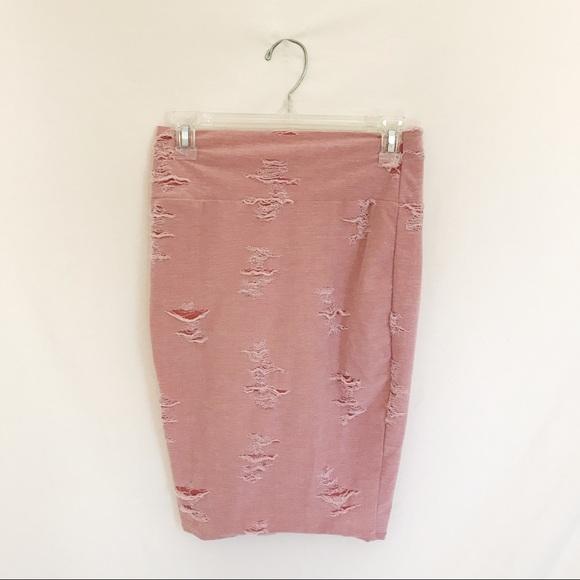 Myth Dresses & Skirts - Pastel Pink Distressed Skirt